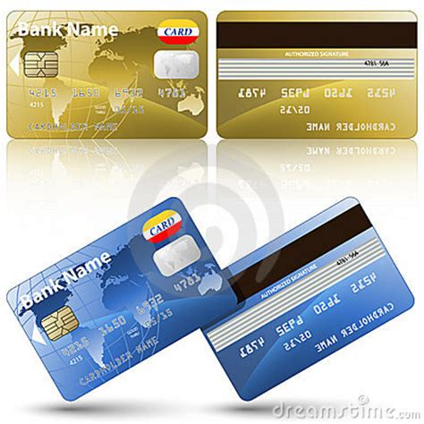 credit cards front   view stock images image