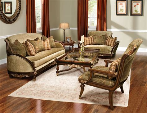 Solid Wood Sofa Set by Rosetta Traditional Style Solid Wood Sofa Furniture Set
