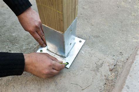 how to anchor post to concrete cabanon et extérieur