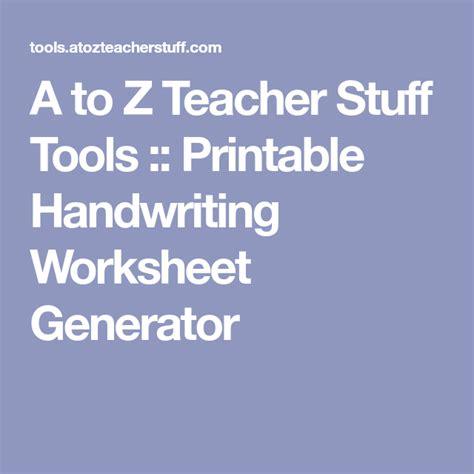 teacher stuff tools printable handwriting