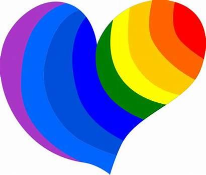 Heart Gay Hippie Rainbow Vector Hearts Clipart