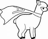 Llama Coloring Super sketch template