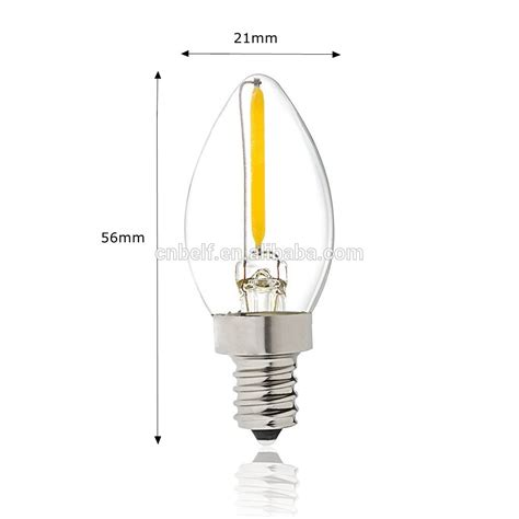 2017 new product led c7 candle light replace halogen bulb