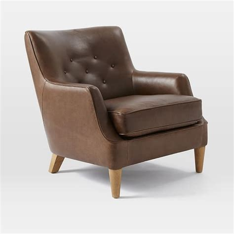 livingston leather club chair west elm