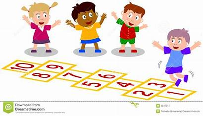 Hopscotch Playing Clipart Play Background Royalty Clip