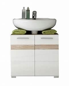 Waschbeckenunterschrank Stehend Mit Schubladen : bad unterschrank stehend in wei hochglanz 60x56x34 cm bxhxt ~ Bigdaddyawards.com Haus und Dekorationen