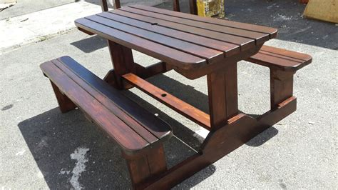 Affordable Outdoor Classic Pine Table in Imbuia in Cape Town