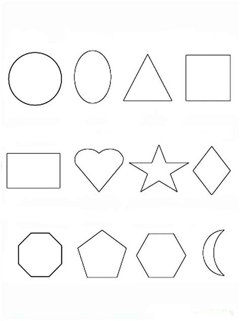 Geometrik şekiller Boyama Resmi Resimlere Göre Ara Red