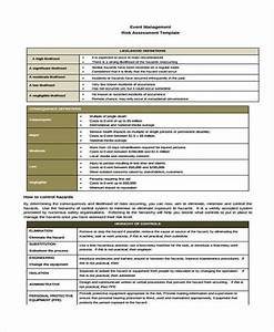 36 sample risk assessment form for Event risk management template