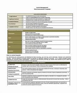 36 sample risk assessment form for Event risk management template