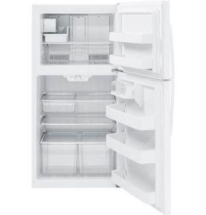 ge giejnww energy star  cu ft top freezer refrigerator  appliances
