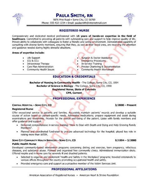 registered nurse resume sample nurse sample cover letter resumes pinterest