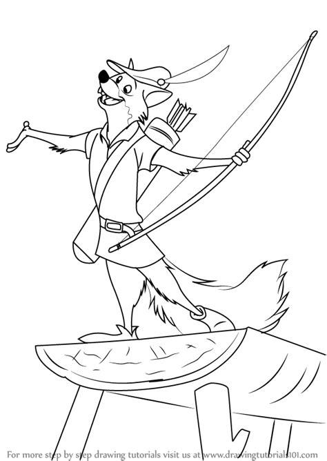 Learn How to Draw Robin The Fox from Robin Hood (Robin ...