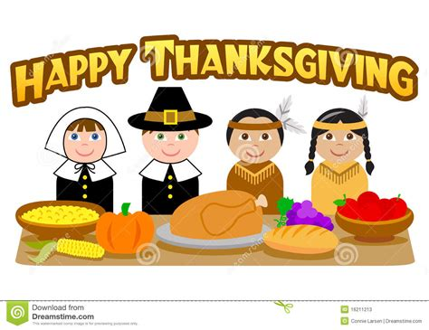 thanksgiving pilgrims  indianseps stock vector image