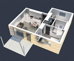 2, Bedroom, Apartment, House, Plans