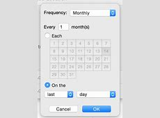 How to make a task repeat on the last day of each month in