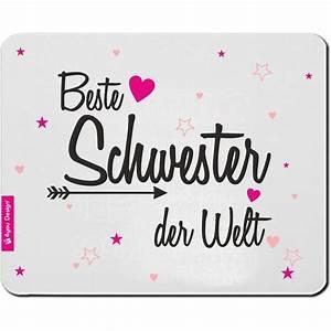 Beste Schwester Der Welt : mousepad beste schwester der welt ~ Frokenaadalensverden.com Haus und Dekorationen