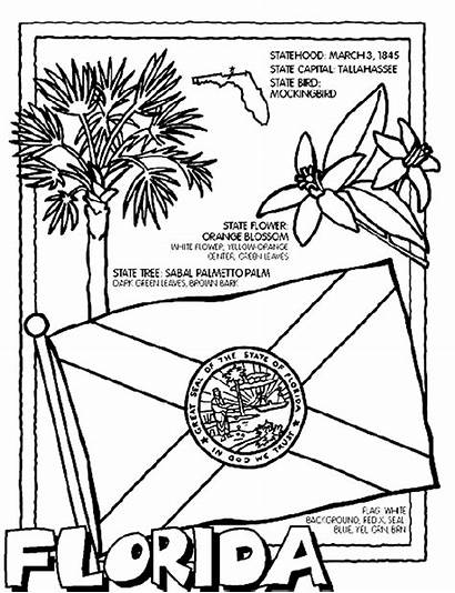 Coloring Crayola Florida Pages State States Symbols