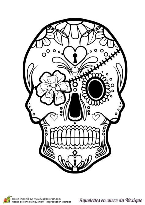 une t 234 te de mort en sucre mexicain 224 colorier avec bandeau de fleur coloriages et