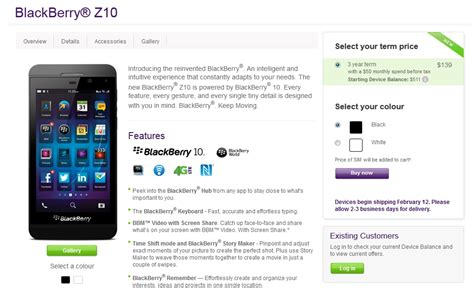 telus cuts the price of blackberry z10 to 139
