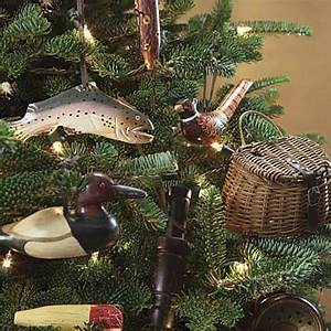 Hunting and Fishing Christmas Ornaments Rustic Sporting