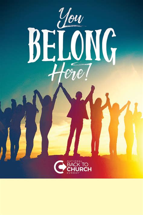 btcs  belong  poster church invitations