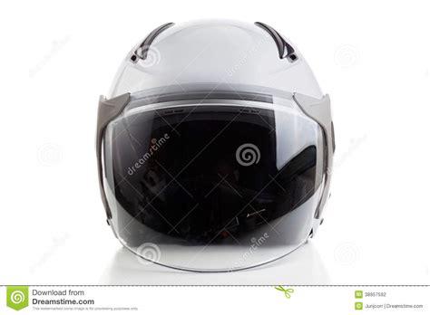 White Jet Fighter Style Helmet Stock Photo