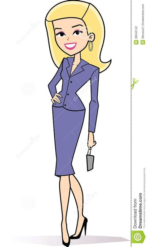 female blonde business clipart stock photography