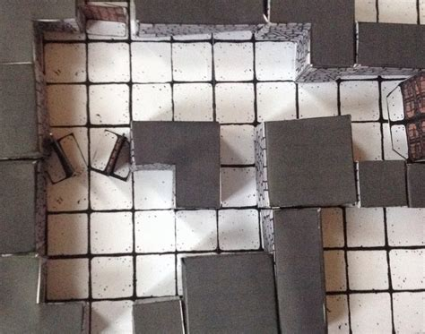 3d Dungeon Tiles Pdf by Dungeon Tiles Inked Adventures Blocks 3d Papercraft