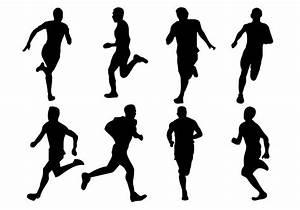 18 Running Human Silhouette Vector Images - Running Man ...