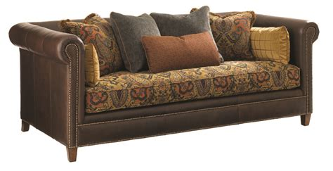 brown leather sofa with fabric cushions leather sofa with fabric cushions 301 moved permanently