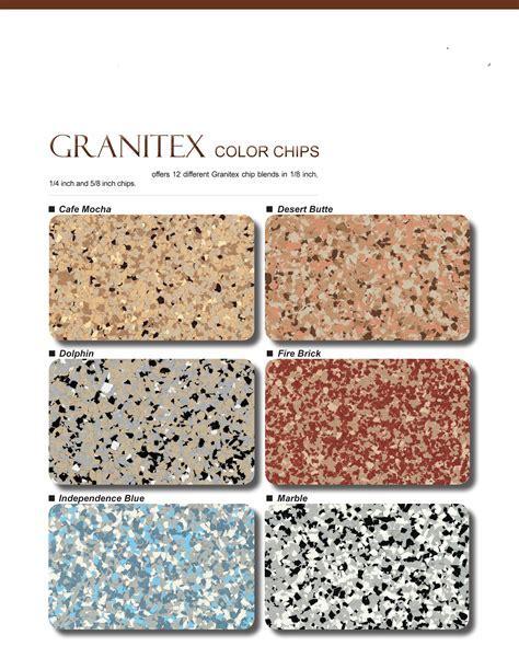 ESR Decorative Concrete Experts   GranitexColorChart 1