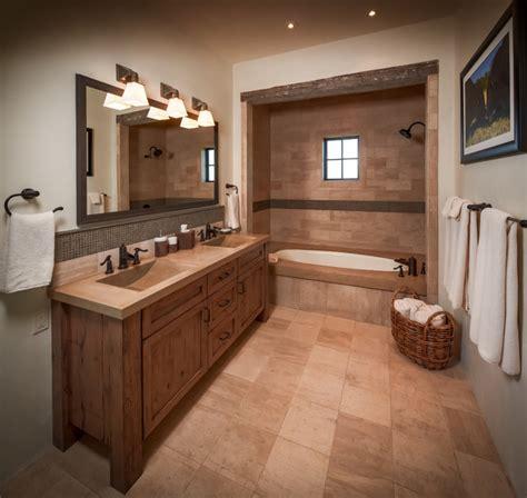 Ranch  Rustic  Bathroom  Houston  By Thompson Custom Homes
