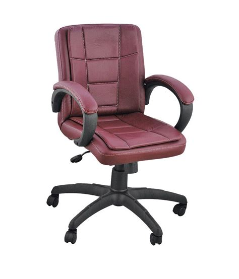 low back office chair in brown buy at best price