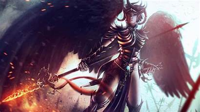 Fire Wings Diablo Spear Spark Screen Wallpepr