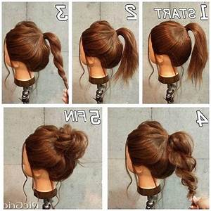 2018 Latest Casual Updos For Long Thick Hair