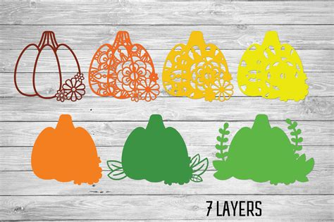 Check out our pumpkin svg free selection for the very best in unique or custom, handmade pieces from our digital shops. 3D Layered Pumpkin SVG   Fall Multi Layer  Autumn Cut File ...