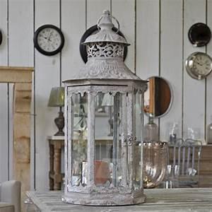 Grande Lanterne Deco : grande lanterne en fer patin ~ Teatrodelosmanantiales.com Idées de Décoration