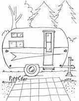 Coloring Printable Trailer Adult Arrow Camper Camping Rv Campers Retro Instant Trailers Patterns Wheel 5th Happy Sheets Colouring Line Sketch sketch template