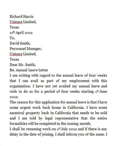 leave letter samples  word apple pages