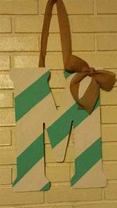 turquoise and white wooden letter with burlap bow my With burlap wooden letters