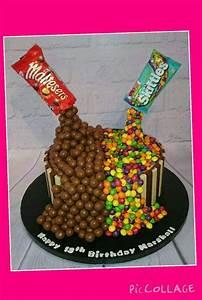 Gravity cake, skittles & maltesers | Cake | Pinterest ...