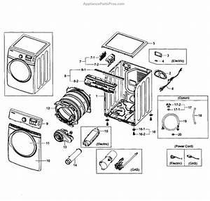 Parts For Samsung Dv431aep  Xaa-0001  Main Assy Parts