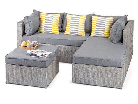 calabria grey rattan garden sofa