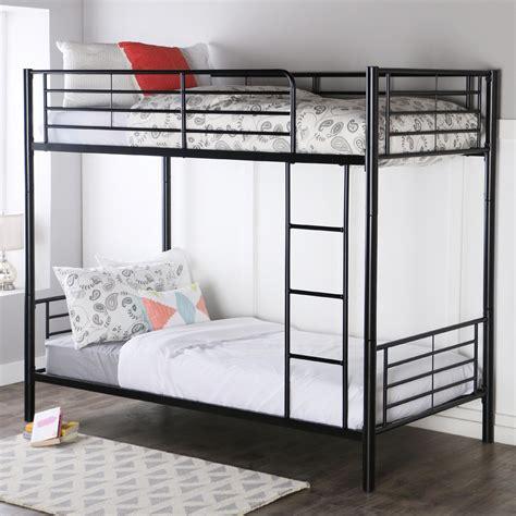 bunk beds with mattress walker edison metal bunk bed