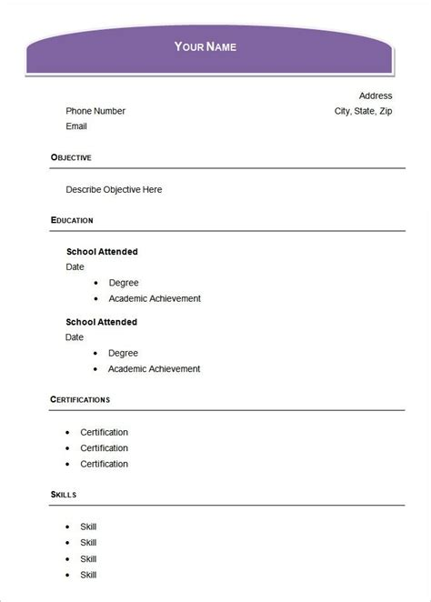 blank resume templates for microsoft word best resume