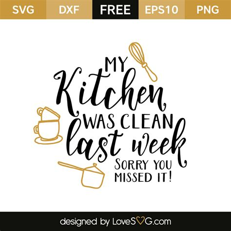 kitchen  clean  week monograms cricut svg