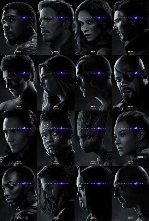 avengers endgame les nouvelles affiches confirment qui