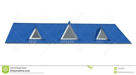 triangle windows tile roof isolated  white royalty