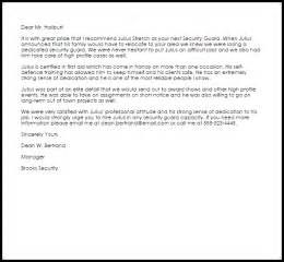 Appointment Letter Security Guard ] - sample cover letter ...